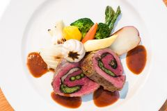 Stuffed Beef Steaks Royalty Free Stock Image