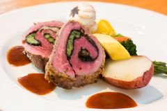 Stuffed Beef Steaks Stock Photos