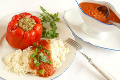Stuffed bell pepper royalty free stock image