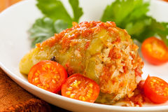Stuffed bell pepper Stock Images