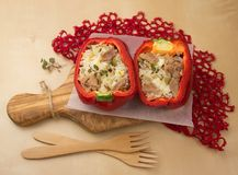 Stuffed bell pepper Royalty Free Stock Images