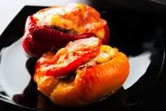 Stuffed bell peppers with chopped meat Royalty Free Stock Image