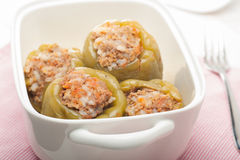 Stuffed bell peppers Stock Photos