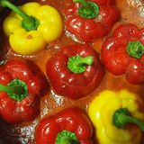 Stuffed Bell Peppers in Tomato Sauce Royalty Free Stock Image