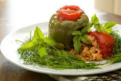 Stuffed Bellpepper and Tomatoes Dolmas Royalty Free Stock Image