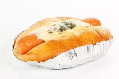 Stuffed Bread with cheese sausage Royalty Free Stock Photo