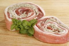 Stuffed breast of lamb Royalty Free Stock Photos