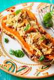 Stuffed butternut squash Royalty Free Stock Photography