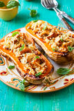 Stuffed butternut squash Stock Photo