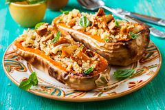 Stuffed butternut squash Stock Photography