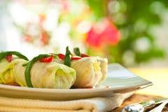 Stuffed Cabbage Stock Photo
