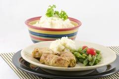 Stuffed Cabbage And Potatoes Stock Photo