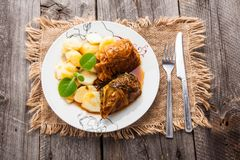 Stuffed cabbage dishstuffed cabbage dishstuffed cabbage dish Stock Image