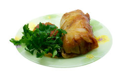 Stuffed cabbage (golubets in russian cuisine) with royalty free stock photography