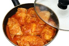 Stuffed cabbage house stewed in a tomato sauce Royalty Free Stock Photo