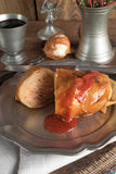 Stuffed cabbage leaf Royalty Free Stock Image