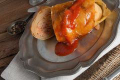 Stuffed cabbage leaf Royalty Free Stock Photography