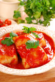 Stuffed cabbage leaves with mince and rice Royalty Free Stock Photo