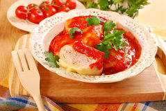 Stuffed cabbage leaves with mince and rice Royalty Free Stock Images