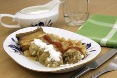 Stuffed cabbage with meat and rice, Romanian traditional cuisine - sarmale stock images