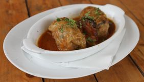 Stuffed cabbage roll Stock Images