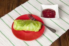 Stuffed cabbage roll Royalty Free Stock Photos