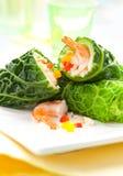 Stuffed cabbage rolls Stock Photos