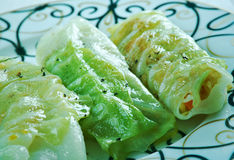 Stuffed Cabbage Rolls. Middle Eastern Style - Mahshi Malfouf Royalty Free Stock Photo