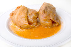 Stuffed Cabbage Rolls Stock Photo
