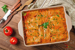 Stuffed cabbage rolls with rice and meat Royalty Free Stock Image