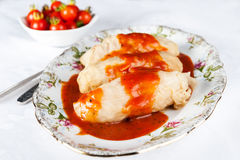 Stuffed cabbage in tomato sauce Royalty Free Stock Images