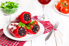 Stuffed capsicums Royalty Free Stock Images