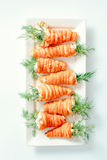 Stuffed carrots pastry Royalty Free Stock Photography