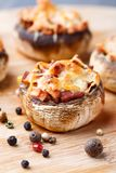 Stuffed champignons with ham and cheese Royalty Free Stock Photo