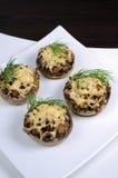 Stuffed champignons Stock Images