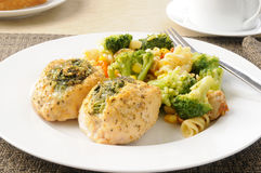 Stuffed chicken Stock Image