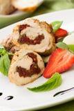 Stuffed Chicken Breast royalty free stock photo
