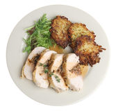 Stuffed Chicken Breast Dinner Stock Photography