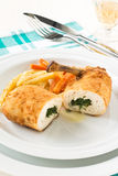 Stuffed chicken breast Royalty Free Stock Photography