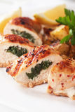 Stuffed chicken breast Royalty Free Stock Image
