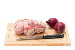 Stuffed chicken breast wrapped in bacon Royalty Free Stock Photography