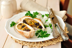 Stuffed Chicken Breasts Royalty Free Stock Image