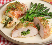 Stuffed Chicken Breasts Stock Photography