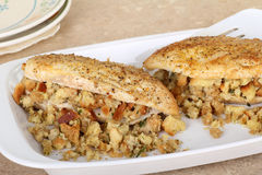 Stuffed Chicken Breasts Closeup Royalty Free Stock Photos