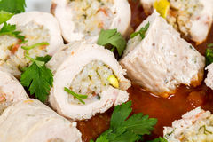 Stuffed chicken breasts Royalty Free Stock Photos