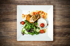 Stuffed chicken fillet Royalty Free Stock Photos
