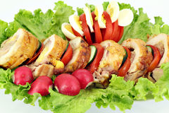 Stuffed chicken meat Royalty Free Stock Image