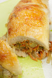 Stuffed chicken roll Royalty Free Stock Photography