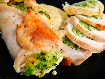 Stuffed chicken rolls Stock Image
