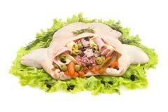 Stuffed chicken Stock Image